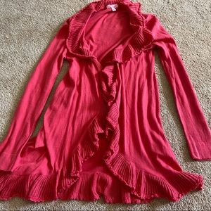 Lovely Bright Pink Lilly Pulitzer Cotton Cardigan